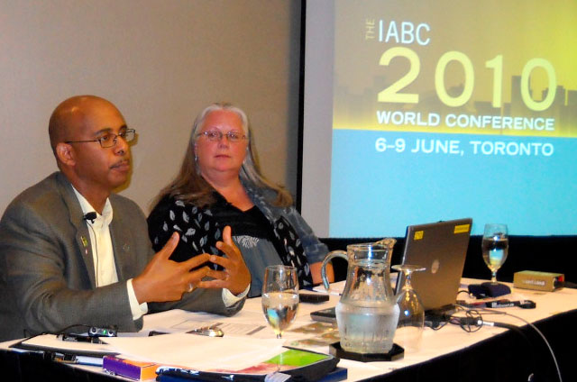 Susan Rink at the IABC 2010 World Conference in Toronto.